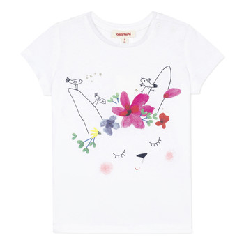 Clothing Girl Short-sleeved t-shirts Catimini MAE White