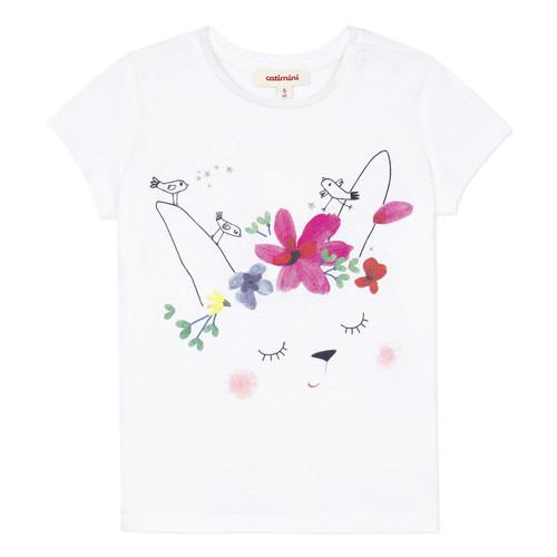 Clothing Girl short-sleeved t-shirts Catimini MAE White