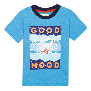 Clothing Boy short-sleeved t-shirts Catimini TAYRON Blue