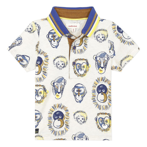 Clothing Boy Short-sleeved polo shirts Catimini ANAELE Beige