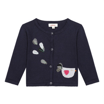 Clothing Girl Jackets / Cardigans Catimini LOUNA Blue