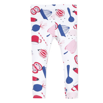 Clothing Girl Leggings Catimini LEONTINE White