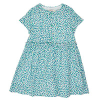 Clothing Girl Short Dresses Catimini ELLA Green / Blue