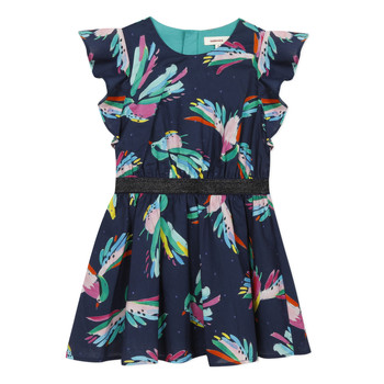 Clothing Girl Short Dresses Catimini CESAR Blue