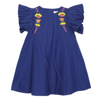 Clothing Girl Short Dresses Catimini GABIN Blue