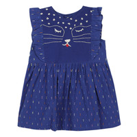 Clothing Girl Short Dresses Catimini CHARLES Blue