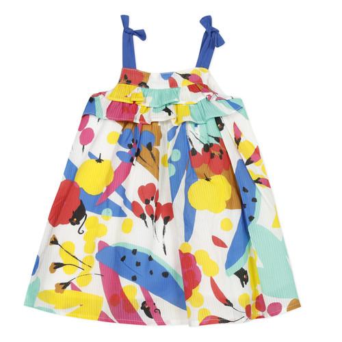 Clothing Girl Short Dresses Catimini THEO White