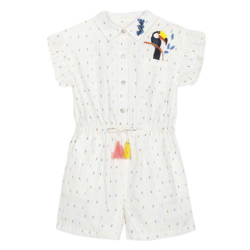 Clothing Girl Jumpsuits / Dungarees Catimini LUCIUS White