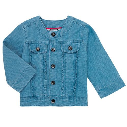 Clothing Girl Jackets Catimini ELIOTT Blue
