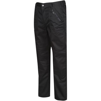 Clothing Men Trousers Professional Pro Action Water-Repellent Work Trousers Navy Black Black