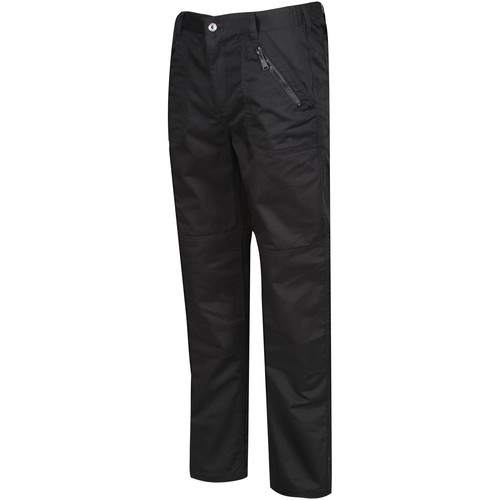 Clothing Men Trousers Professional Pro Action Water-Repellent Work Trousers Black