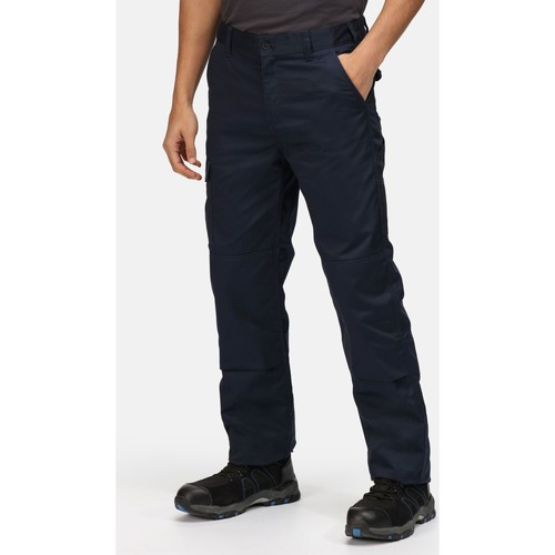 Clothing Men Trousers Professional Pro Cargo Durable Work Trousers Navy Blue Blue