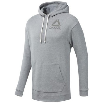 Clothing Men sweaters Reebok Sport TE Marble BL Oth Hood Grey