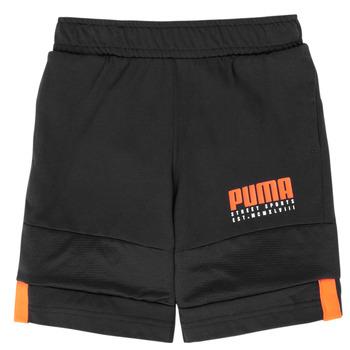 Clothing Boy Shorts / Bermudas Puma ALPHA JERSEY SHORT Black