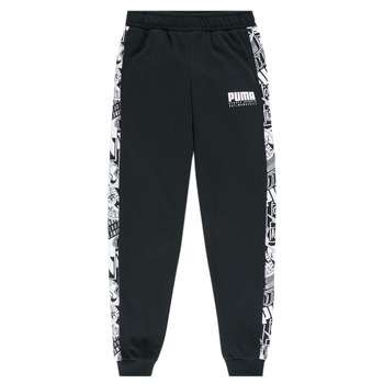 Clothing Boy Tracksuit bottoms Puma ALPHA SWEAT PANT BOY Black