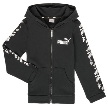Clothing Boy Sweaters Puma AMPLI HOOD JKT Black