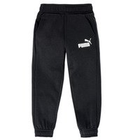 Clothing Boy Tracksuit bottoms Puma SWEAT PANT Black