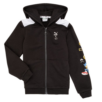 Clothing Boy Sweaters Puma SEGA HOOD JKT Black