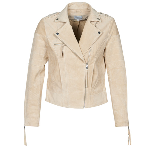 Vila VICRIS Beige - Free delivery  ! - Clothing Leather jackets / Imitation leather Women   79.10