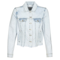 Clothing Women Denim jackets Vila VIANNABEL Blue / Clear