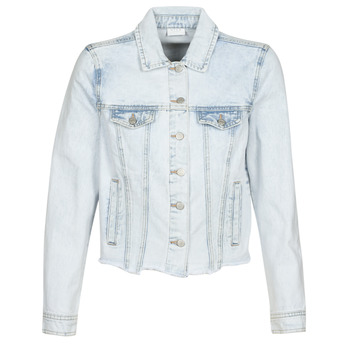 Clothing Women Denim jackets Vila VIANNABEL Blue / Clear
