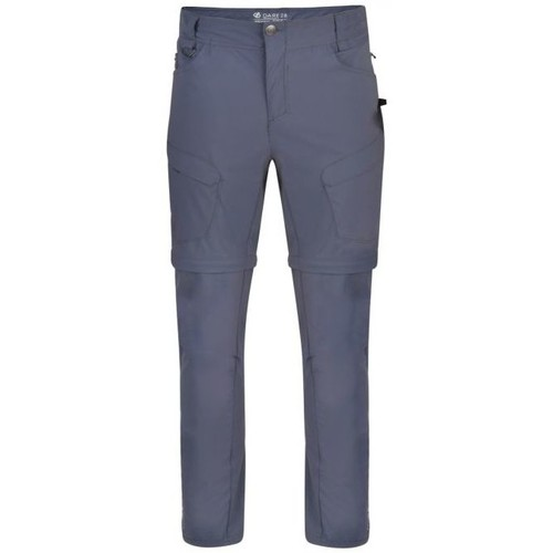 Clothing Men Trousers Dare 2b Tuned In II Water-Repellent Zip Off Walking Trousers Grey