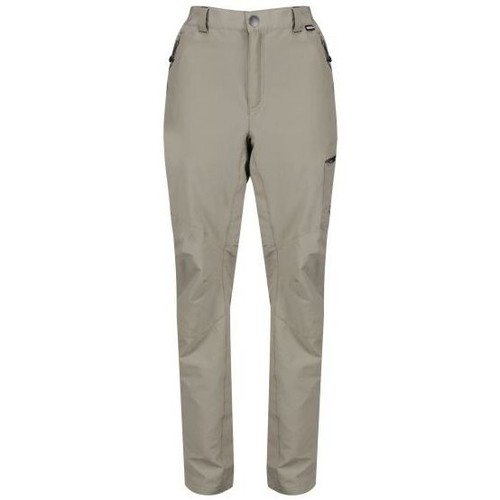 Clothing Men Trousers Regatta Highton Stretch Water-Repellent Walking Trousers Brown