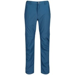 Clothing Men Trousers Regatta Leesville Lightweight Zip Off Hiking Trousers Blue Blue