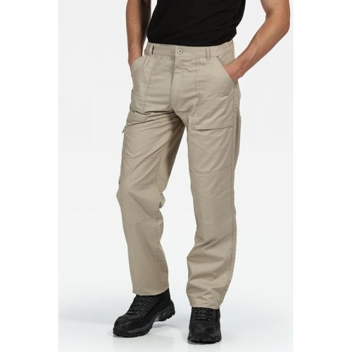 Clothing Men Trousers Professional New Action Water-Repellent Trousers Green Cream Cream