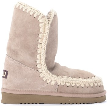Shoes Women Snow boots Mou Eskimo 24 boot in warm gray double face sheepskin Grey