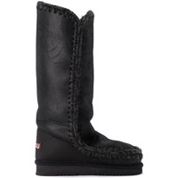 Shoes Women Snow boots Mou Tall Eskimo boot in black double-faced sheepskin Black