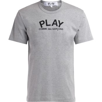 Clothing Men short-sleeved t-shirts Comme Des Garcons T-Shirt in gray cotton with logo Grey