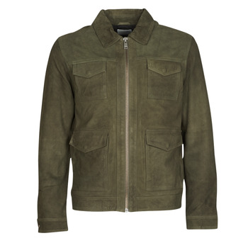 Clothing Men Leather jackets / Imitation leather Selected SLHRALF Kaki