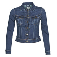 Clothing Women Denim jackets Lee SLIM RIDER JACKET Blue / Marine
