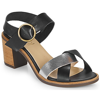 Shoes Women Sandals Casual Attitude MILLA Black / Silver