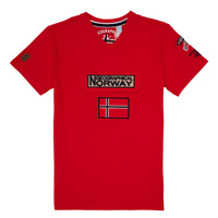 Clothing Boy Short-sleeved t-shirts Geographical Norway JIRI Red