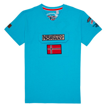 Clothing Boy Short-sleeved t-shirts Geographical Norway JIRI Turquoise