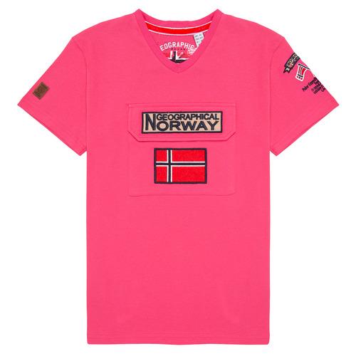 Clothing Boy Short-sleeved t-shirts Geographical Norway JIRI Pink