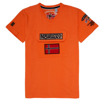 Clothing Boy Short-sleeved t-shirts Geographical Norway JIRI Orange