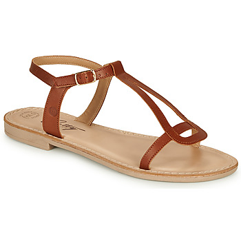 Shoes Women Sandals Betty London MISSINE Cognac
