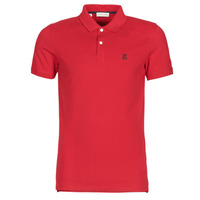 Clothing Men short-sleeved polo shirts Selected SLHARO Red
