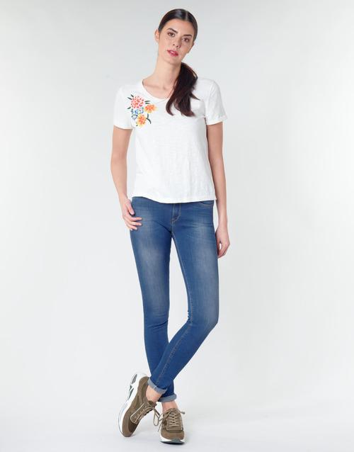 Clothing Women Skinny jeans Replay LUZ Blue / Dark