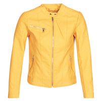 Clothing Women Leather jackets / Imitation leather Only ONLMELANIE Yellow