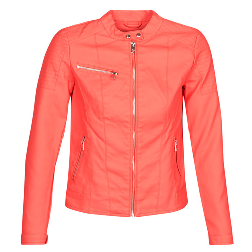 Clothing Women Leather jackets / Imitation leather Only ONLMELANIE Red