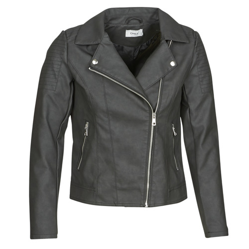 Clothing Women Leather jackets / Imitation leather Only ONLMELANIE BIKER Black
