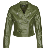 Clothing Women Leather jackets / Imitation leather Only ONLENYA Green