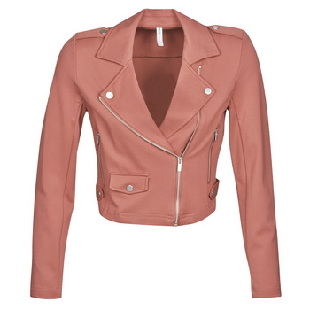 Clothing Women Jackets / Blazers Only ONLPOPTRASH BIKER Pink