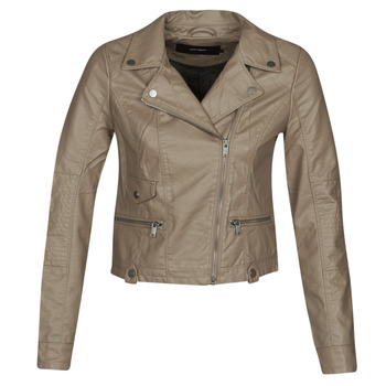 Clothing Women Leather jackets / Imitation leather Vero Moda VMULTRAMALOU Taupe