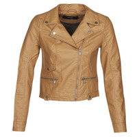 Clothing Women Leather jackets / Imitation leather Vero Moda VMULTRAMALOU Cognac