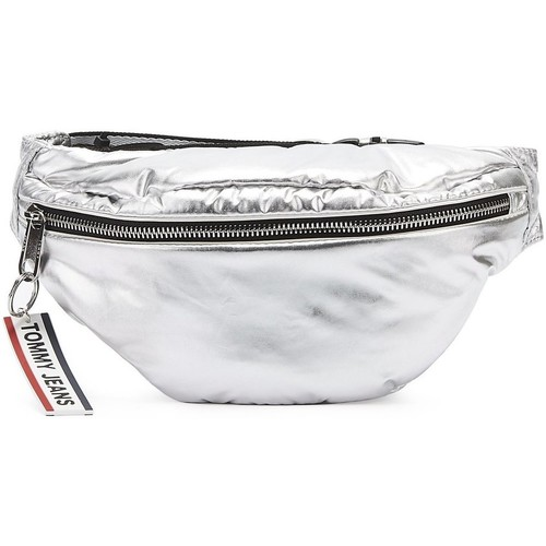 Bags Bumbags Tommy Hilfiger Tommy Jeans Logo Tape Silver Bum Bag Silver